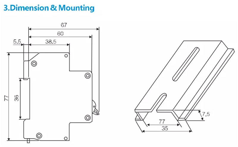 3.Dimension & Mounting